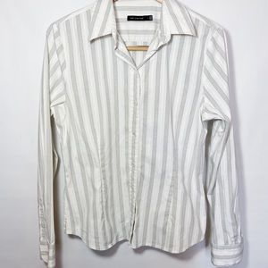 Stripe Button Down Long Sleeve Dress Shirt